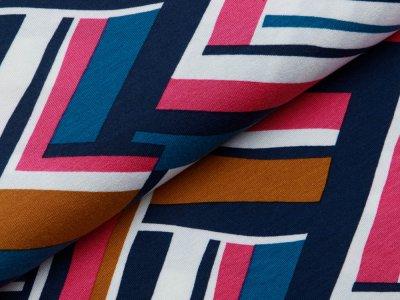 Jersey Viskose Digitaldruck Stenzo - Abstraktes-Muster - multicolor
