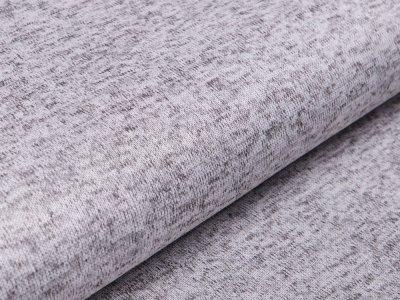 Angerauter Strickstoff  - meliert grau