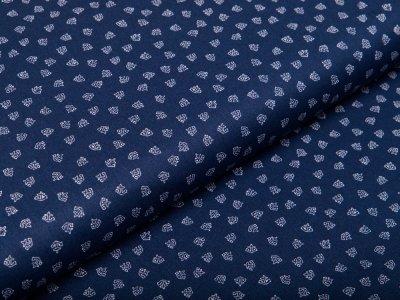 Webware Baumwolle - kleine Anker - navy