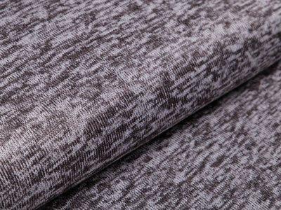 Angerauter Strickstoff  - meliert helles grau