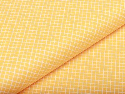 Webware Baumwolle - kleine Rauten - gelb