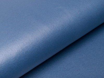 Beschichteter Sweat French Terry - uni jeansblau