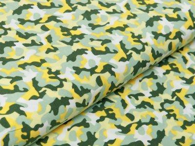 Webware Viskose - Camouflage - grün