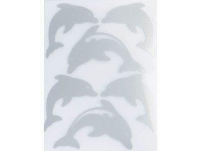 Applikation Reflex zum Aufbügeln - Delphine - grau