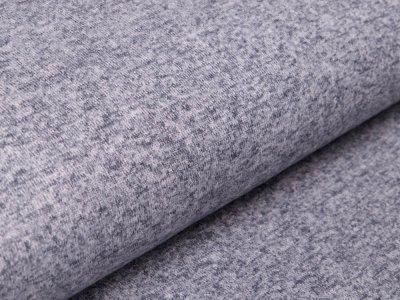 Strickstoff Viskose - meliert grau