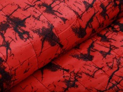 Stepper Jackenstoff - Cracks - rot
