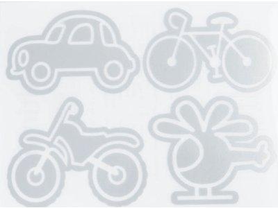 Applikation Reflex zum Aufbügeln - verschiedene Fahrzeuge - grau
