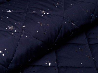 Softshell Jackenstoff Eigenproduktion KDS PANEL ca. 120 cm x 130 cm - Happy Rain - dunkles blau