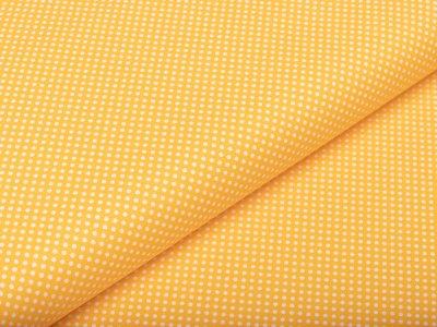 Webware Baumwolle - kleine Punkte - gelb