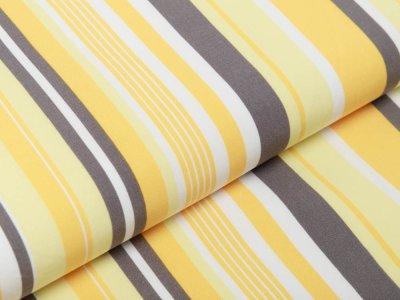 Webware Viskose - Streifen - gelb