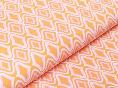 Webware Viskose - verwirrendes Muster - orange