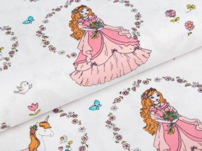 Webware Baumwolle Pretty Princess by Polly - Prinzessin im Blumenkranz - weiß