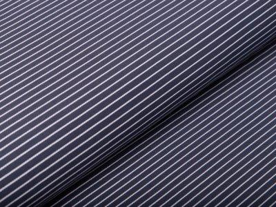 Webware Baumwolle - Nadelstreifen - grau