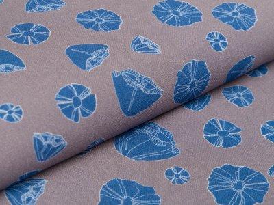 Viskose Swafing Vida Pur by Bienvenido Colorido - Magnolien -grau / blau