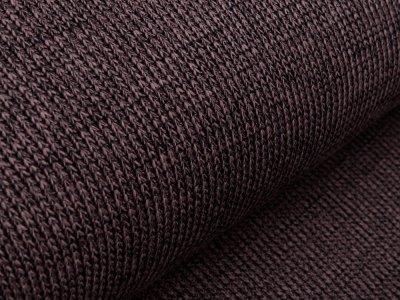 Strickstoff - meliert grau/braun