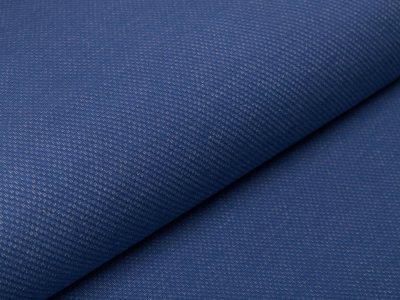 Angerauter Sweat Jacquard - Strickoptik -  jeansblau