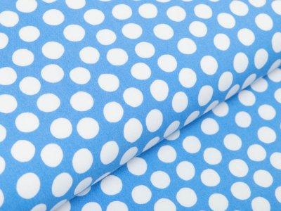 Webware Viskose - Kreise - blau