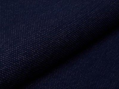Angerauter Sweat Jacquard - Strickoptik -  dunkles blau