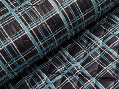 Stepper Jackenstoff - Kariert - dunkles blau/helles blau