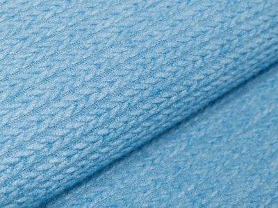 Jacquard Angora Touch - Zopfmuster - uni jeansblau
