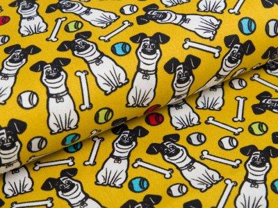 Webware Baumwolle Dreamworks - Pets - Hund Max - ocker