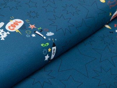 Jersey Panel ca. 98 x 145 cm - Bester Sohn - jeansblau