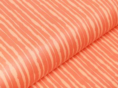 Beschichtete Webware by Klaranähta - ausgefranste Streifen - orange