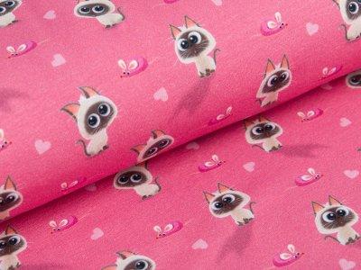 Jersey  Dreamworks - Pets - Katze Reginald  und Mäuse - pink