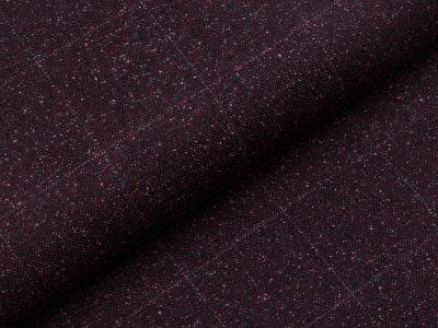 Tweed Wollstoff Swafing Alessio - Karos ca. 5 cm x 5 cm - dunkles braun