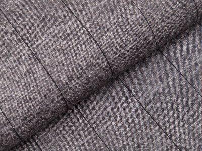 Tweed Wollstoff Swafing Alessio - Karos ca. 5 cm x 5 cm - schwarz/weiß