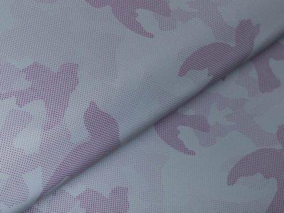 Leichter reflektierender Jackenstoff - Camouflage - grau/lila