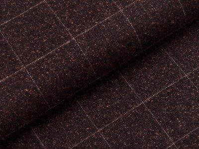Tweed Wollstoff Swafing Alessio - Karos ca. 5 cm x 5 cm - braun