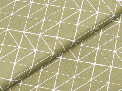 Webware Baumwolle Swafing Kurt - Geometrische Linien - olive