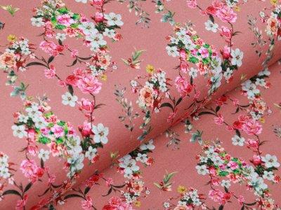 Jersey Digitaldruck Stenzo - romantisches Blumengeflecht - altrosa