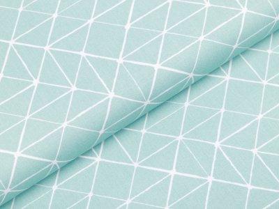 Webware Baumwolle Swafing Kurt - Geometrische Linien - mint