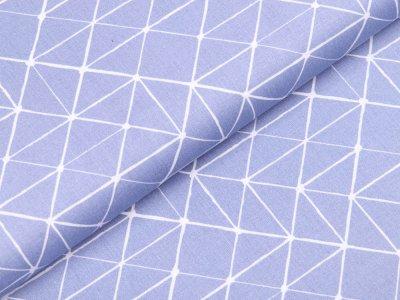 Webware Baumwolle Swafing Kurt - Geometrische Linien - rauchblau