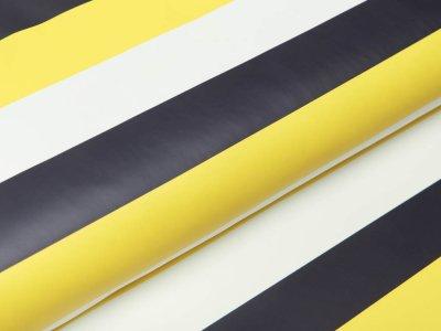 Regenjackenstoff - Streifen - gelb