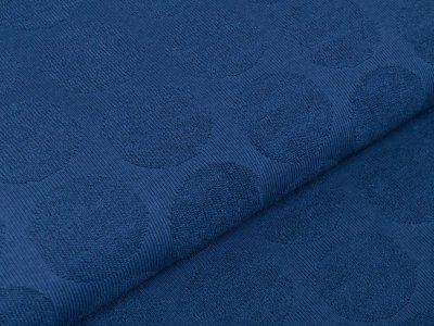 Struktur Strickstoff - 3D-Kreise - uni jeansblau