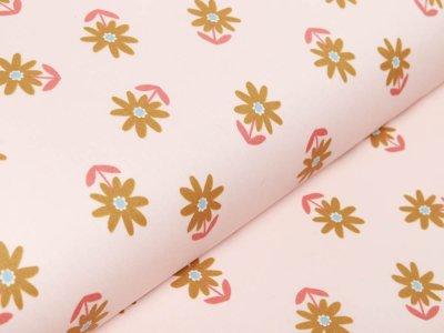 Beschichtete Webware by Poppy - Blumenwiese - helles lachs