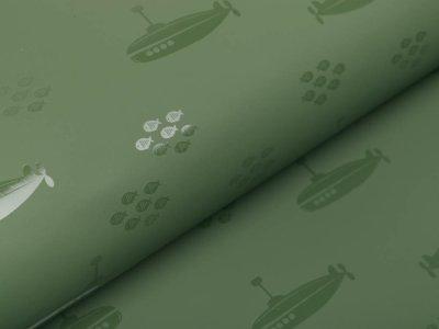 Regenjackenstoff - U-Boote - olive