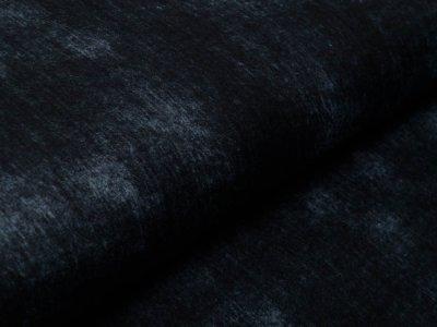 Musselin Baumwolle Hydrofiel Double Gauze Snoozy - zerknitterte Jeansoptik - uni schwarz