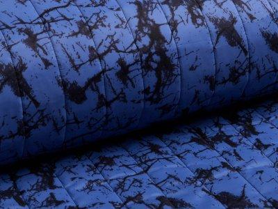 Stepper Jackenstoff - Cracks - jeansblau