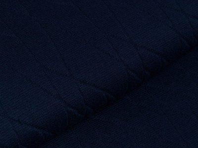 Struktur-Strickstoff - Abstraktes-Muster - uni marine
