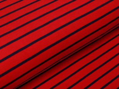 Sweat French Terry Yarn Dyed by Poppy - Streifen - rot