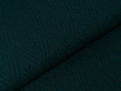 Struktur Strickstoff - gemusterte Rauten - uni waldgrün