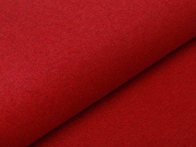 Glattes Bündchen im Schlauch Jenaro Swafing - meliert rot