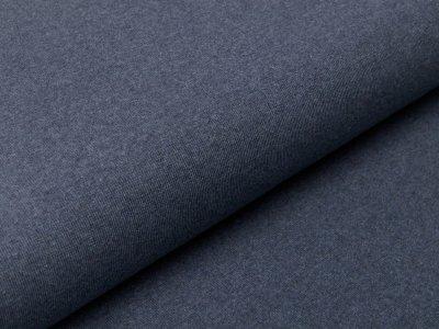 Glattes Bündchen im Schlauch Jenaro Swafing - meliert jeansblau