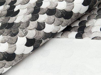 Sweat French Terry Digitaldruck - Schuppen - grau Töne