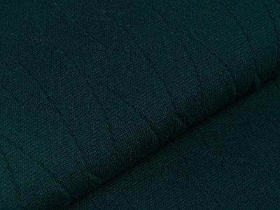 Struktur-Strickstoff - Abstraktes-Muster - uni flaschengrün