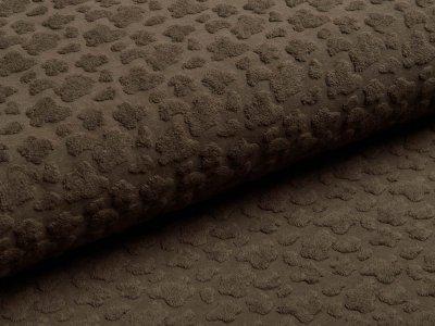 Jersey Jacquard - Animalprint in 3D Optik - olive